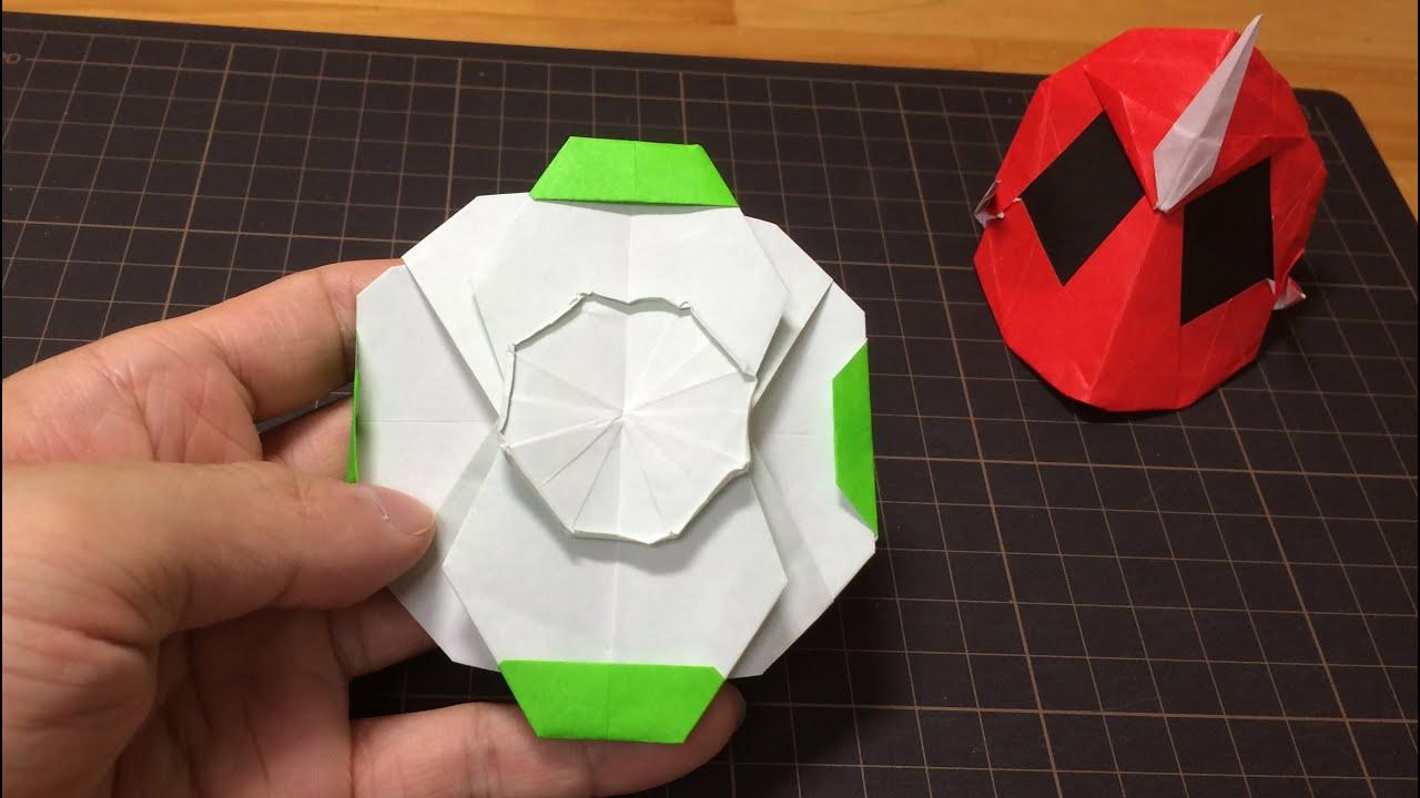 おりがみ「ロビンゴーストアイコン」のつくりかた 仮面ライダーゴースト How to make Origami ... - photo#1