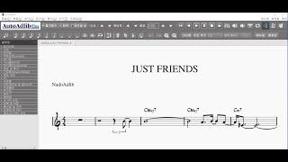 JUST FRIENDS | 반주가 있는 재즈악보 | 오…