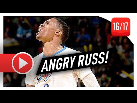 Russell Westbrook Full Highlights vs Mavericks (2017.01.26) - 45 Pts, 8 Reb, ANGRY RUSS