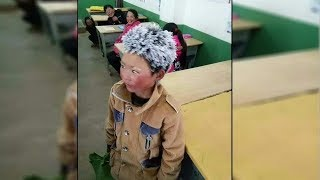 8 Year Old Comes To School With A Frozen Head And When The Teacher Looks Closer His Heart Breaks
