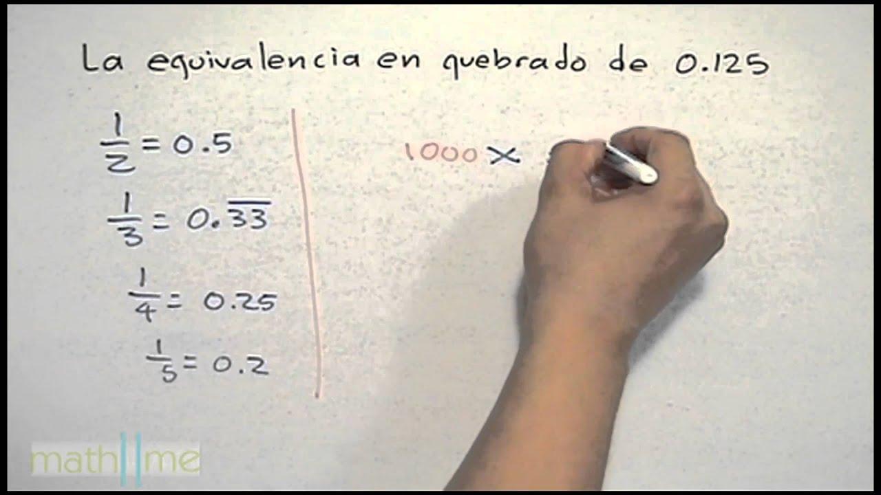 Conversión de una fracción a decimal - YouTube