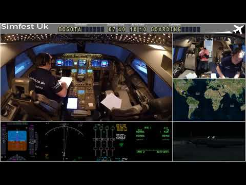 Worldflight 2017: Leg 19 Kingston to Bogota Boeing 747-400 Home Simulator