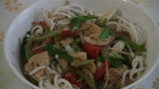 Chinese Chicken Noodle Soup  (fast Chinese Cooking)