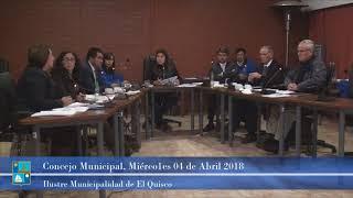 Concejo Municipal Miércoles 04 Abril 2018
