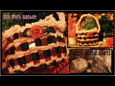 Plastic Bottle Mini Basket Tutorial