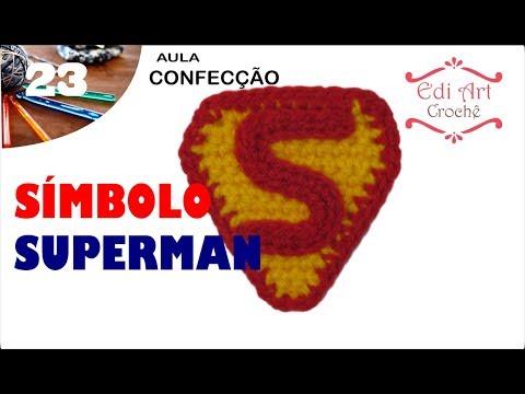 Símbolo Logotipo Superman Crochet | Edi Art Crochê