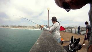 Oceanside Ca Fishing the Pier Aug 21, 2011