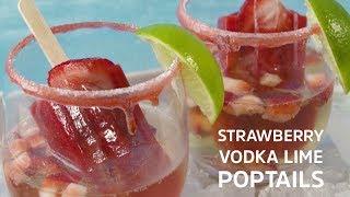 Strawberry, Lime & Vodka Popsicles