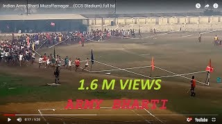 Indian Army Bharti  Muzaffarnagar....(CCS Stadium).full hd
