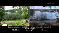 Suomi 100 - Talvipäivänseisaus vs. Kesäpäivänseisaus - Summer solstice vs. Winter solstice