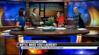 Repeat youtube video Lauren  Keith last day at KFVS TV Farewell  3-8-2013