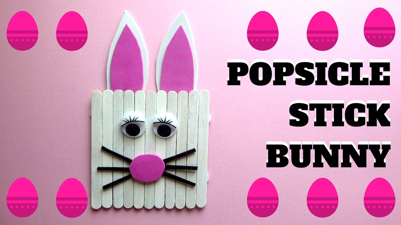 Easter Crafts Popsicle Stick Bunny Popsicle Stick Craft Youtube