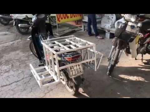 [ Baga ] giá chở hàng xe máy gương kính / ống nước/ đèn tube - 0986634759 - bagachohang.com