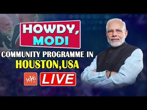 PM Modi in USA LIVE | Howdy Modi Mega Event | Narendra Modi Donald Trump | Houston LIVE | YOYO TV