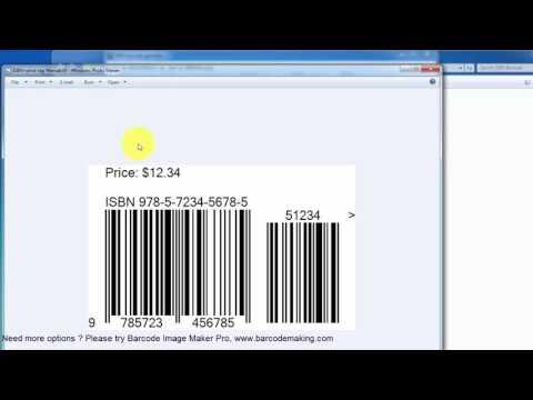 ISBN barcode generator