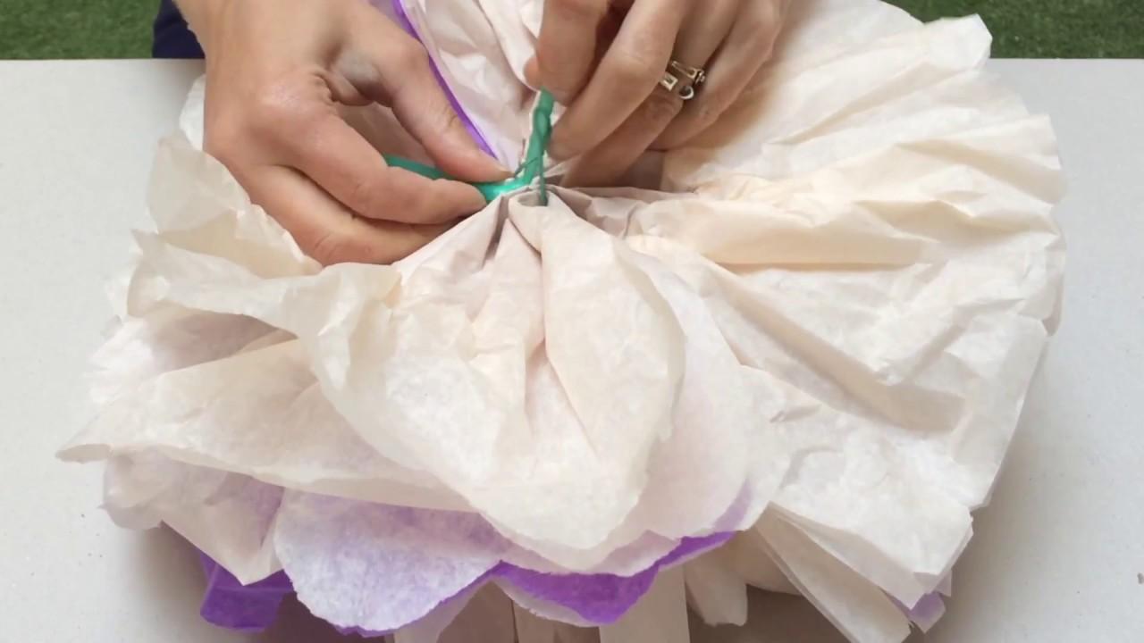 fabriquer un bouquet de fleurs en papier de soie youtube. Black Bedroom Furniture Sets. Home Design Ideas