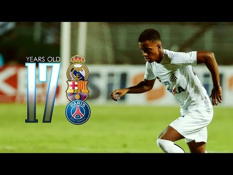 Skills and goals • Rodrygo Goes • Santos 2018 •17 years old DUDE