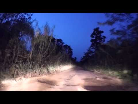 Togo Route Aklowa Badou de nuit,  Gopro / Togo Road Aklowa to Badou by night, Gopro