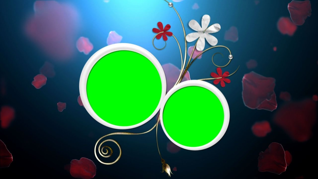 Green Chroma Key Ring Flower Background Stock Footage For Wedding | DMX HD BG 147