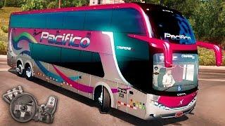 American Truck Simulator - Ônibus peruano! - Campione - Comil DD 6x2 - Com Logitech G27
