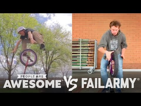 Unicycles & Nunchucks | People Are Awesome vs. FailArmy