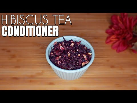 DIY Hibiscus Tea Conditioner 🌺| How to make Conditioner for Hair Growth
