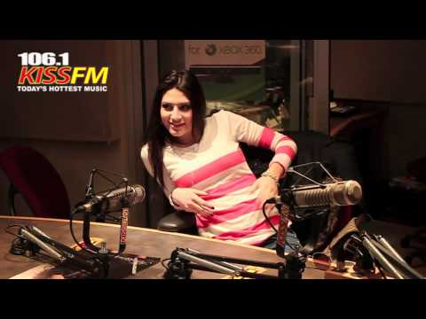 Kristina Maria visits the KISS FM studio!