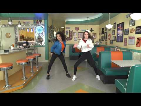 "Taylor Hatala and Sofia Wylie dancing to ""Tomorrow Starts Today"" 