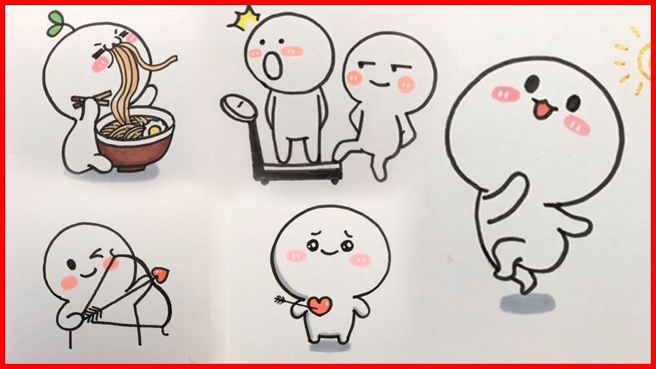 cách vẽ hình cute đơn giản – vẽ hình icon #2