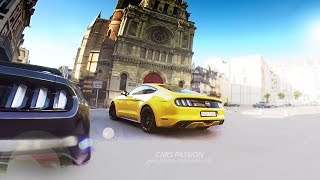 Ford Mustang GT 2015 sound V8, Road Trip Paris - Deauville