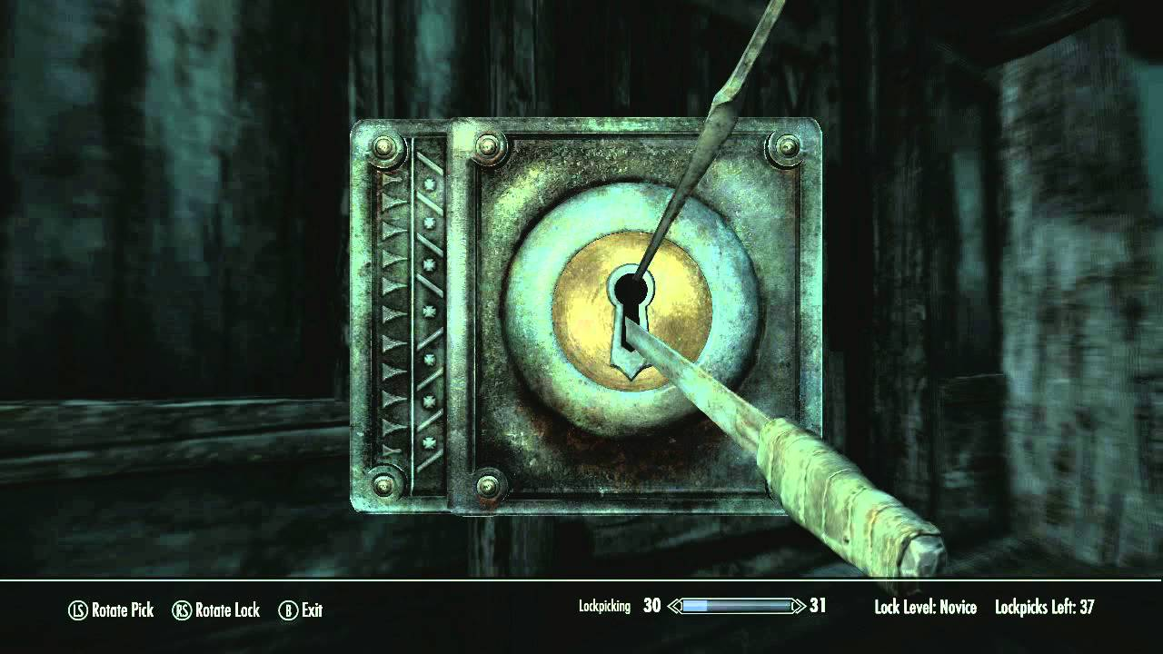 Skyrim How To S The Secret Of Lockpicking Youtube