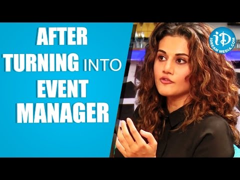 Taapsee About Her Event Management Company || Ghazi Movie || Talking Movies With iDream