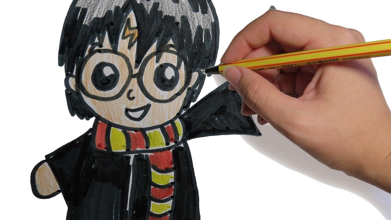 Como Dibujar A Harry Potter Kawaii Paso A Paso