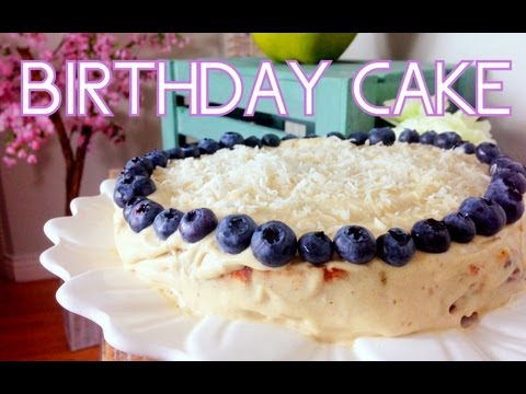 Lemon Blueberry Birthday Cake | Cheap Clean Eats