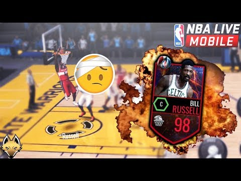 98 Bill Russell GAMEPLAY!! BEST Dunker EVER In NBA Live Mobile!!