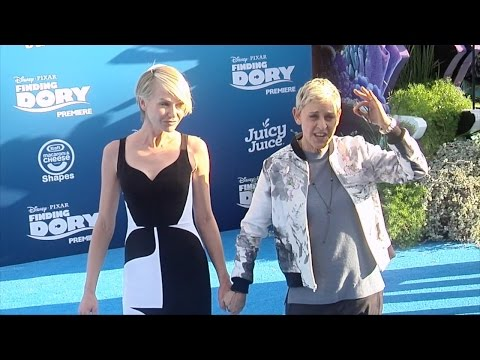"Ellen DeGeneres and Portia de Rossi ""Finding Dory"" Premiere Blue Carpet"