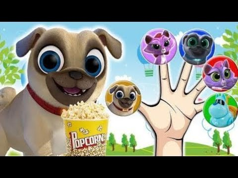 Puppy Dog Pals In Cinema Finger Family Nursery Rhymes For Children