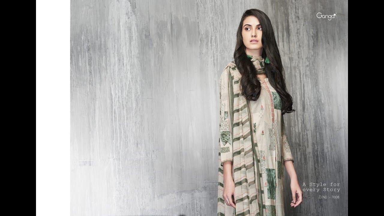 159241f02c Latest Indian Salwar Suits Dresses Collection 2018 || Ganga Fashion || GANGA  FASHION IMPRINTS