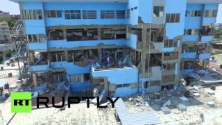 DRONE FOOTAGE: Devastating Ecuador quake aftermath