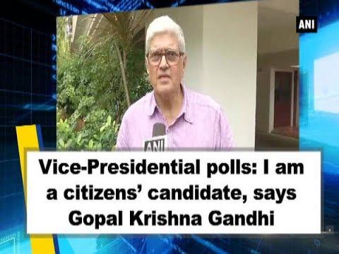 Vice-Presidential polls: I am a citizens' candidate, says Gopal Krishna Gandhi - Tamil Nadu News