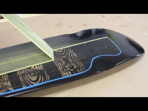 How to paint spray paint a skateboard by jon peters for Best paint for skateboard decks