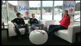 CZE \ Nove Mesto 2013 Biatlon VIP 2 Jaroslav Soukup a Ondřej Moravec 08-02-13 (2 of 2)