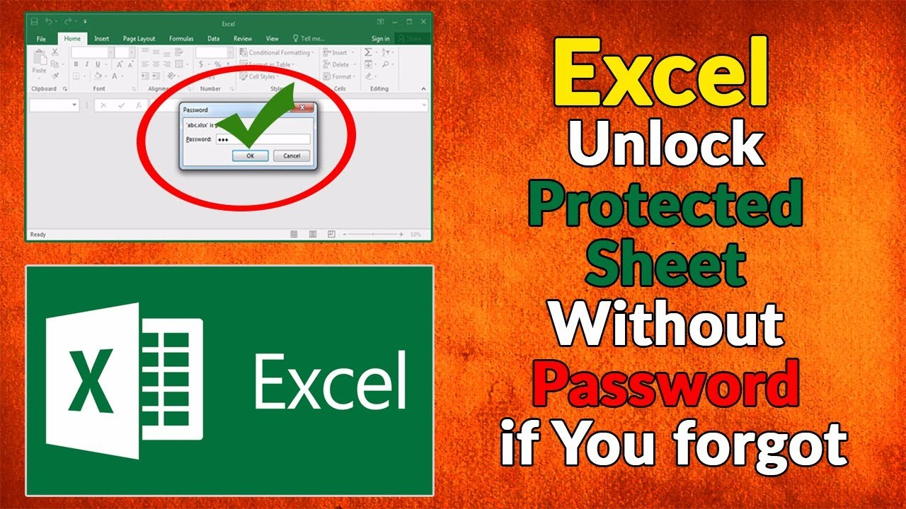 forgot the excel sheet password