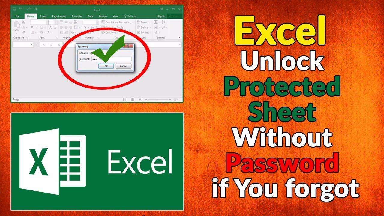 unlock forgotten excel password