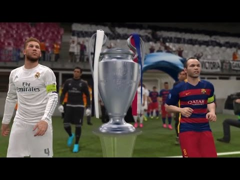 PES 2016 - UEFA Champions League Final [FC Barcelona Vs Real Madrid]