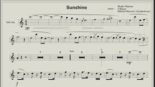Sunshine  - Club House music for saxophone (Backing track and score)