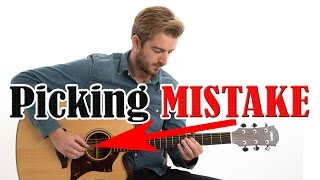Guitar Picking MISTAKE - AΝD how to PREVENT IT!