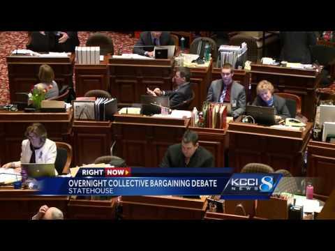 Lawmakers pull all-nighter in the Iowa Senate