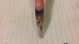 HOW TO: Acrylic Nail Tutorial Encapsulated Dry Flowers  ♥