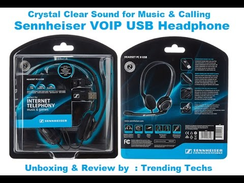 Sennheiser Headphone Unboxing Review Pc 8 Usb Overhead Youtube